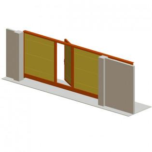 Откатные ворота со встроенной калиткой серии ADS400 «COMFORT».